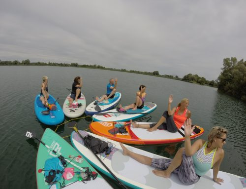 Stand-up-Paddling-Yoga in der Rhein-Neckar Region